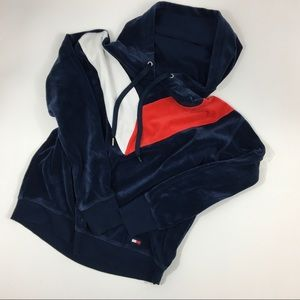 Tommy Hilfiger velour hoodie small